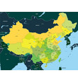 color map of china vector image
