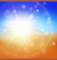 colorful abstract summer background vector image vector image