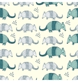 Colorful seamless pattern with armadillos vector image vector image