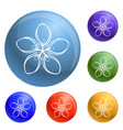 cosmetic flower icons set vector image