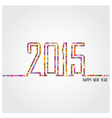 Creative happy new year 2015 text Design vector image vector image