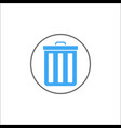 delete and bin solid icon mobile sign and garbage vector image