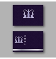 Design business card with logo of the goddess of vector image vector image