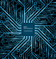 Electronic chip background vector image vector image