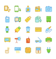 Electronics Colored Icons 6 vector image vector image