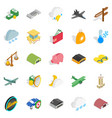 flight vehicle icons set isometric style vector image vector image