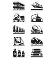 Gas tank terminals vector image vector image