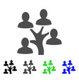 genealogy tree flat icon vector image