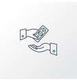 get payment icon line symbol premium quality vector image