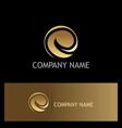gold letter e logo vector image