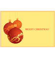 golden christmas card 3 vector image
