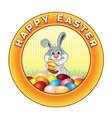 Happy Easter Badge Ready for Text and Design vector image vector image