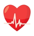 Heartbeat icon in cartoon style vector image vector image