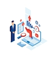 Isometric Businessman Successful business vector image