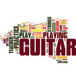 learn to play guitar free tips for beginner vector image vector image