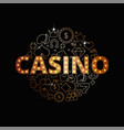 line art set of casino icons vector image vector image