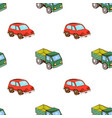lorry and car toy pattern seamless vector image vector image