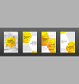 medical brochure cover template flyer layout vector image