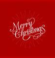 merry christmas calligraphic design vector image