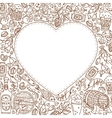 Oktoberfest background with doodle heart vector image vector image