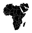 political map of africa vector image