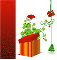 red x-mas box vector image vector image
