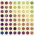 retro colorful circles background vector image