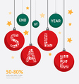 Sale Discount Icons Styled christmas ball vector image