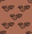 Seamless Pattern with Hand Drawn Coffee Beans vector image vector image