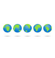 set earth globes world maps isolated on white vector image vector image