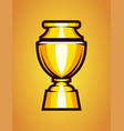 shiny winner cup trophy gold goblet icon vector image