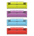 Sofa in some color variations vector image vector image