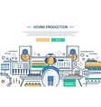 Sound Production - website header banner template vector image vector image
