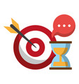target and hourglass vector image vector image