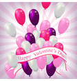 valentine balloons background vector image vector image
