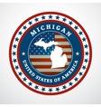 Vintage label Michigan vector image