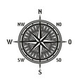vintage navigation compass icon isolated vector image vector image