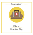 World First Aid Day vector image vector image