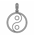 Ying yang symbol of harmony icon outline style vector image vector image