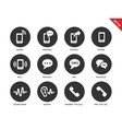 Mobile phone icons on white background vector image