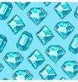 Pixel Diamond Seamless Pattern vector image