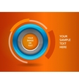 3D circle frame on a orange background vector image vector image