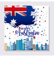 australia day celebration vector image