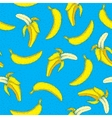 Banana seamless pattern Bright pop art Hand vector image vector image