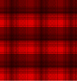 black and red tartan plaid background vector image
