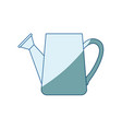 blue shading silhouette of watering can vector image vector image
