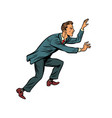 businessman climbs up vector image vector image