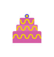 cake icon color style vector image