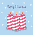 candles of christmas with snowflakes vector image