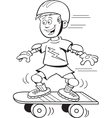 Cartoon Skateboard Boy vector image vector image